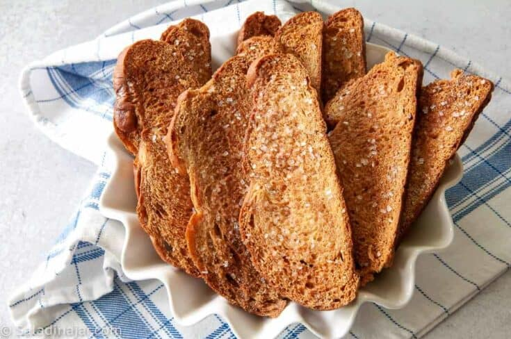 Cinnamon Melba Toasts