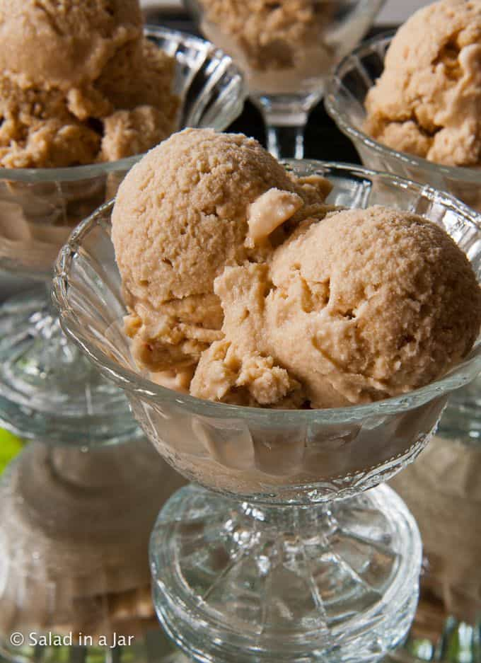 Coffee Ice Cream served in dessert goblets