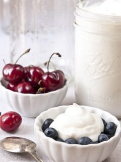 Healthy Homemade Greek Yogurt (fat-free)
