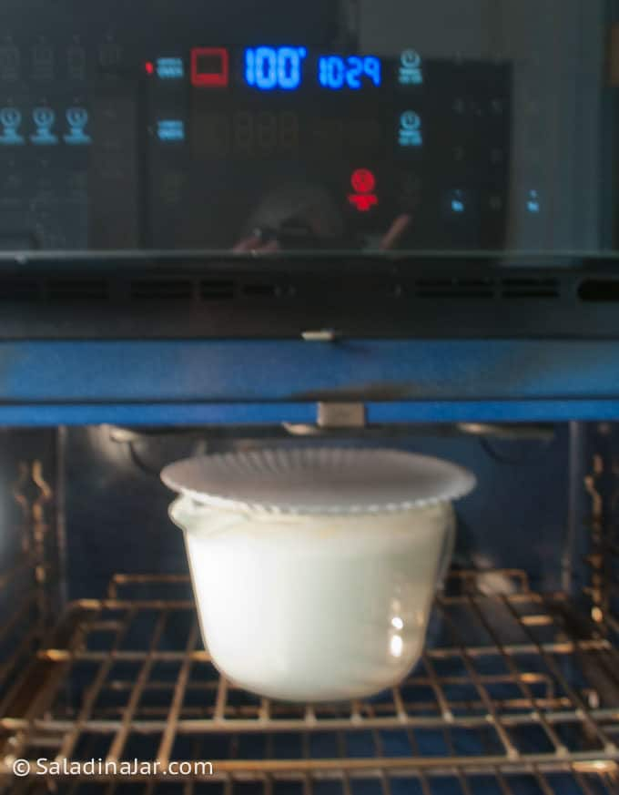 incubating yogurt in my oven at 100 degrees F