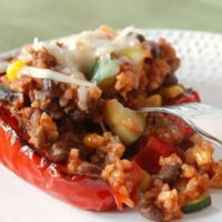 Southwestern Roasted Stuffed Peppers