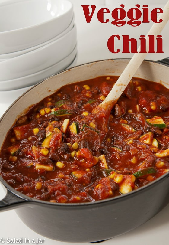 VEGETARIAN CHILI--in a pot