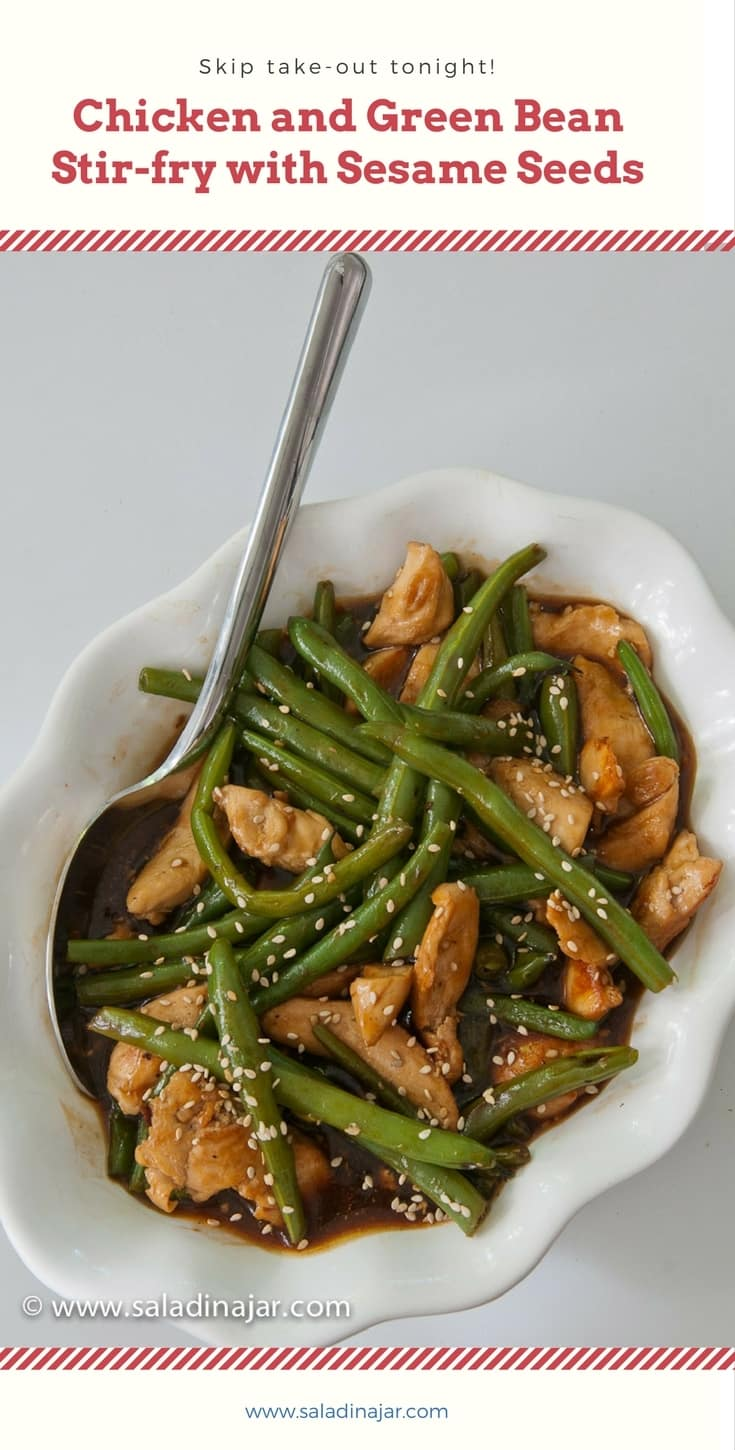 Chicken, green beans, stir-fry, Chinese, takeout