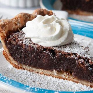 slice of chocolate fudge pie