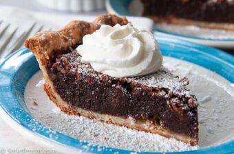 slice of chocolate fudge pie