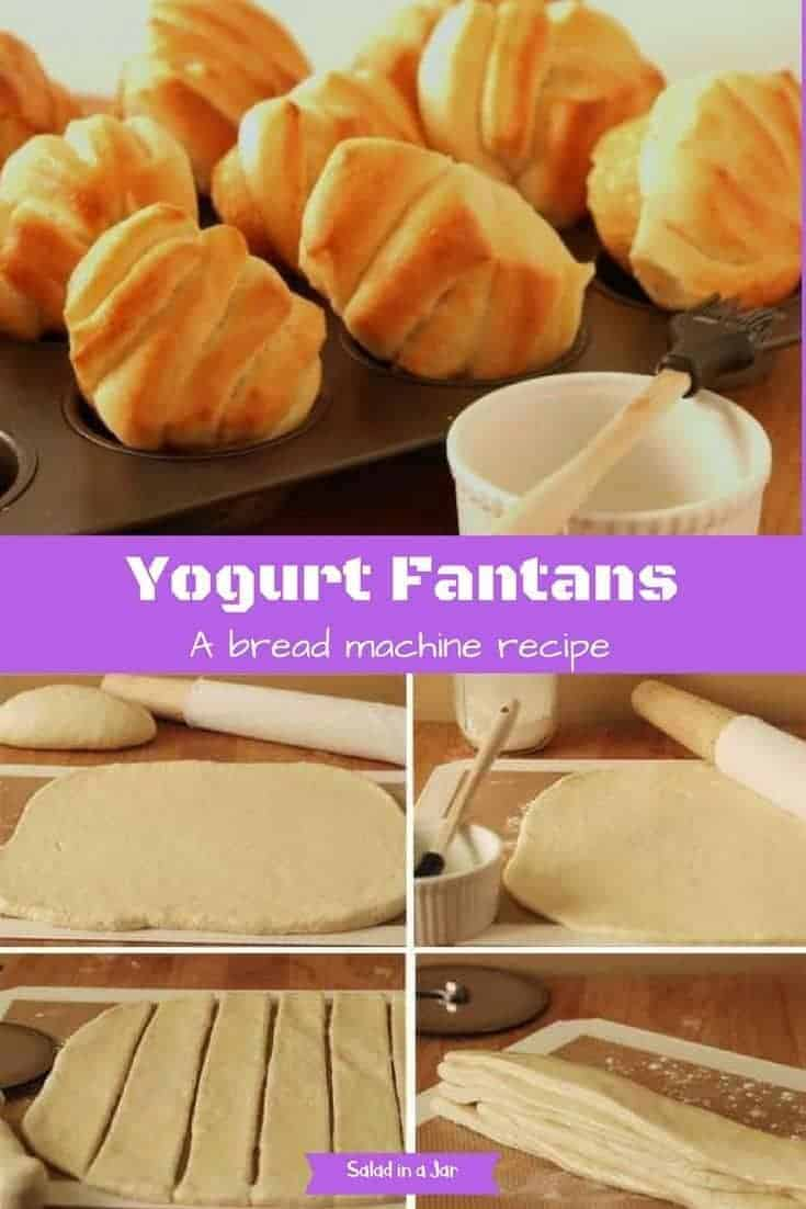 Yogurt Fantans, bread, yeast, bread machine, yogurt, brown n serve rolls
