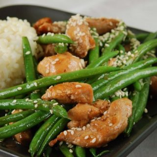 chicken and green bean stirfry