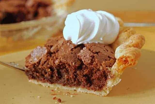 A fudge-y, brownie-like pie in a classic pie crust.