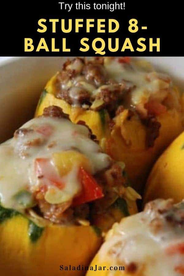 Unusual looking 8-ball squash with a familiar taste makes a beautiful presentation stuffed with sausage and other veggies.