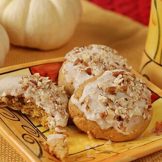 OFT PUMPKIN COOKIES WITH BROWNED BUTTER ICING