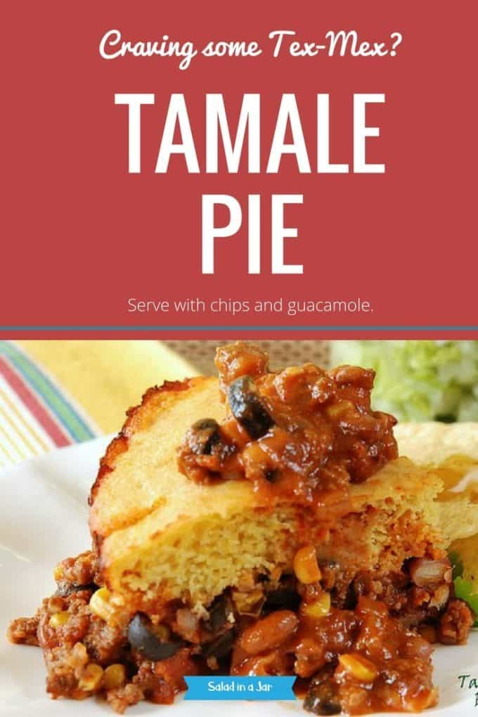 Tamale Pie - 1 serving on a plate
