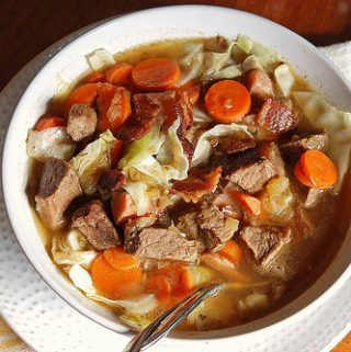 HEARTY BEEF AND HAM STEW