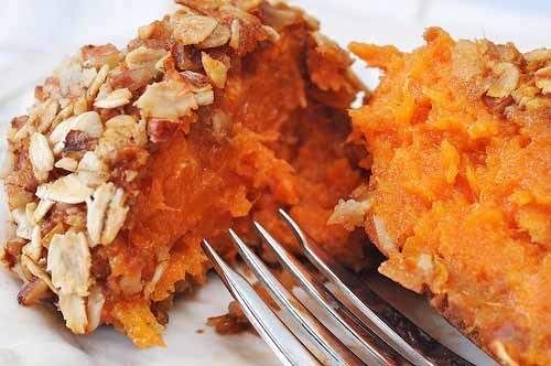 STREUSEL CRUSTED SWEET POTATO BALLS