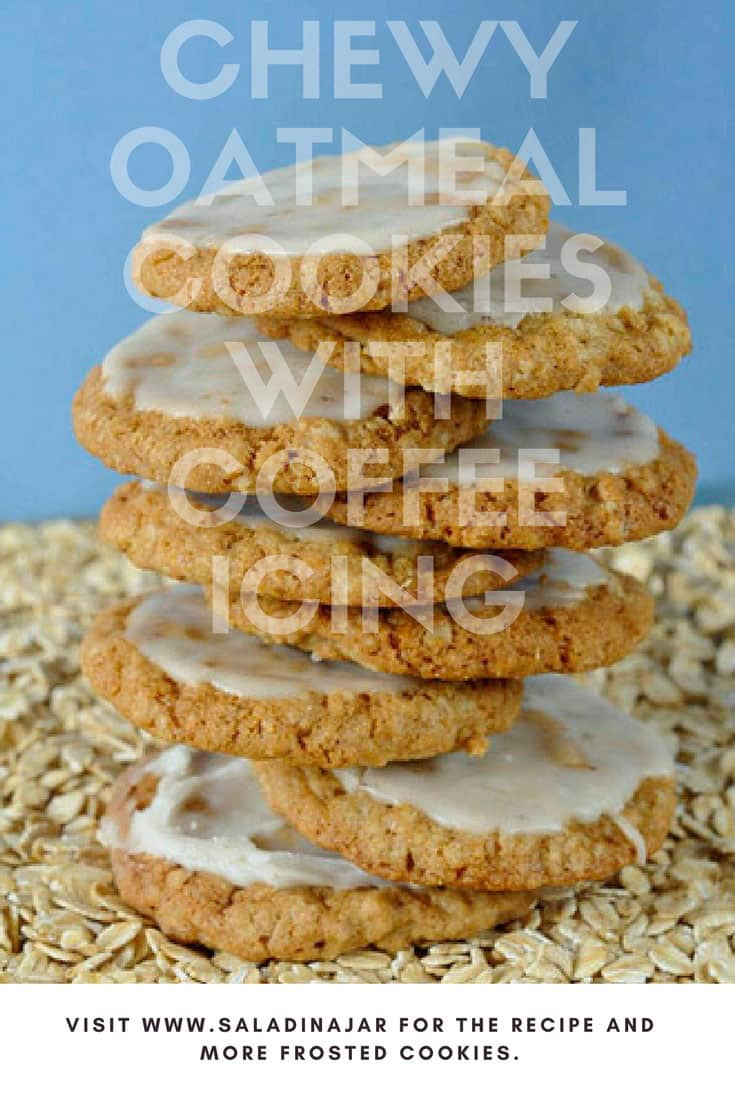 chewy oatmeal cookies, coffee icing, frosted, easy, recipe, cookies, parties, favorite