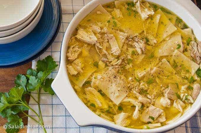 Never-Fail Chicken and Dumplings -- in pot ready to serve