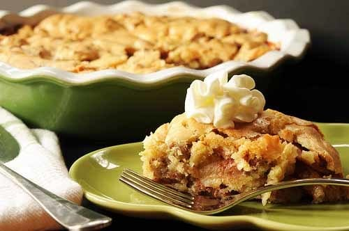 Crustless apple pie so rich and delicious it begs for ice cream or whipped cream on top.