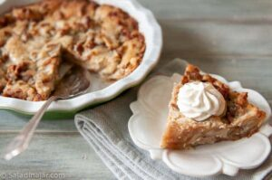 single serving of Swedish Apple Pie