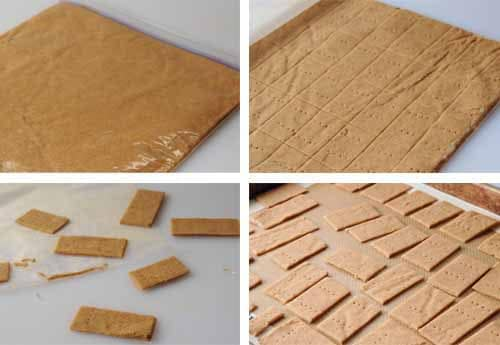 how to roll out homemade graham crackers using Ziploc bags
