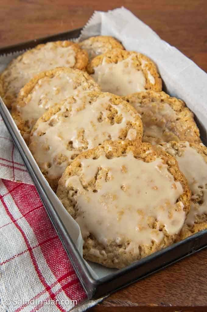 Iced Oatmeal Cookies ready-to-eat