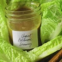 Healthy Creamy Balsamic Salad Dressing