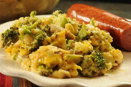 recipe: chicken broccoli cheese rice casserole velveeta [12]
