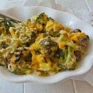Broccoli Cheese Rice Casserole (No Canned Soup)