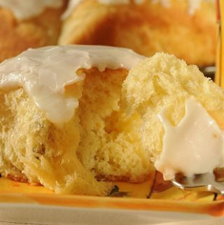 ICED ORANGE YEAST ROLLS