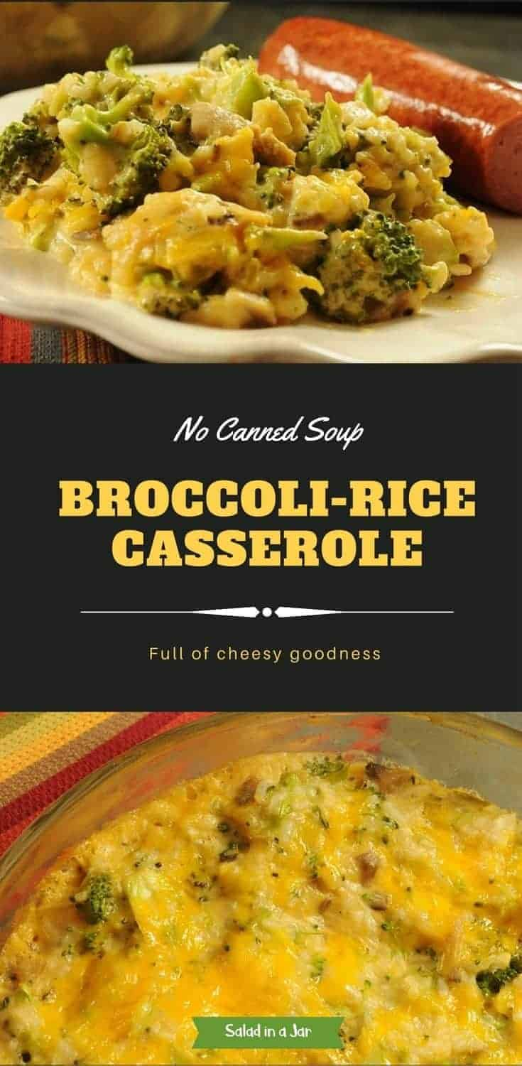 Fresh broccoli and rice side dish combined with a homemade mushroom-vegetable cream sauce and cheese. Good vegetarian entree.