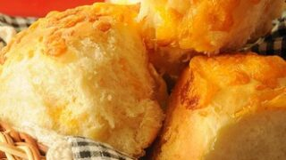 Cheesy-Crusted Yeast Rolls