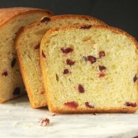 GOLDEN EGG BREAD WITH DRIED FRUIT