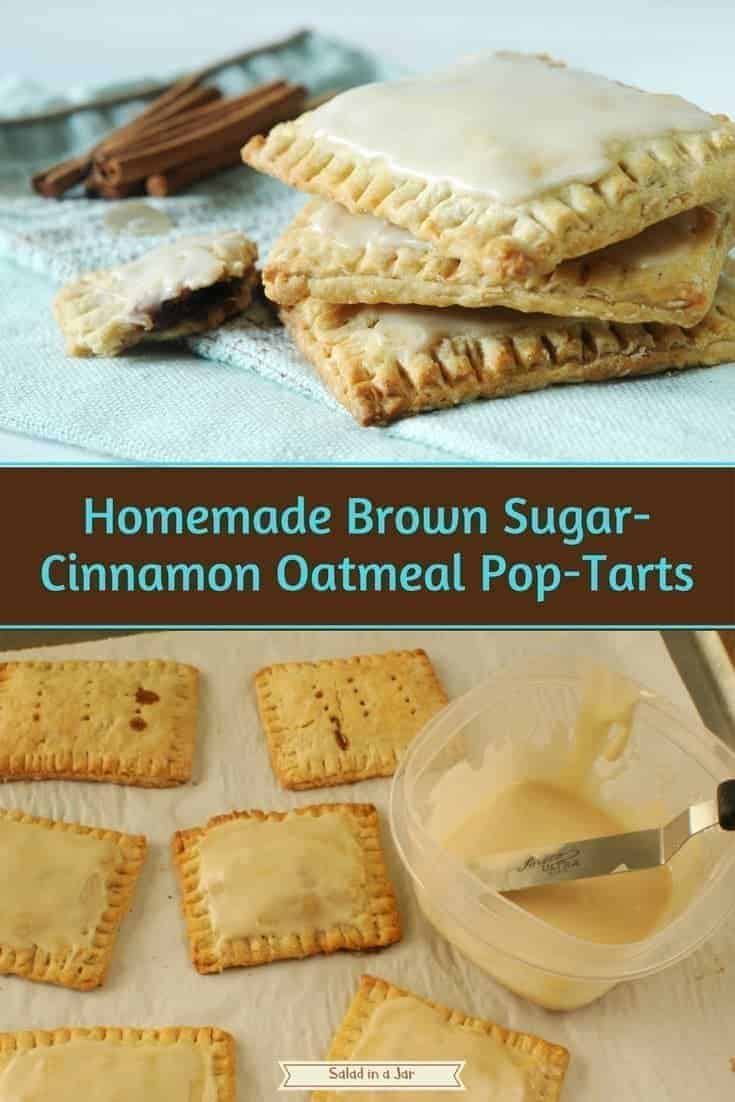 Homemade Brown Sugar-Cinnamon Oatmeal Pop-Tarts; oatmeal, whole wheat flour, buttermilk