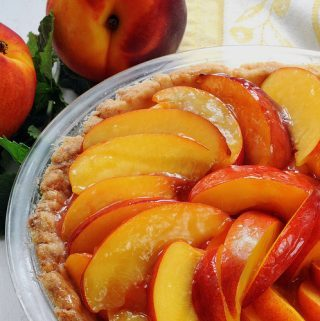 GLAZED FRESH NECTARINE (OR PEACH) PIE