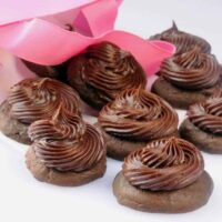 Chocolate Cupcake Tops (aka Frosted Chocolate Cookies)
