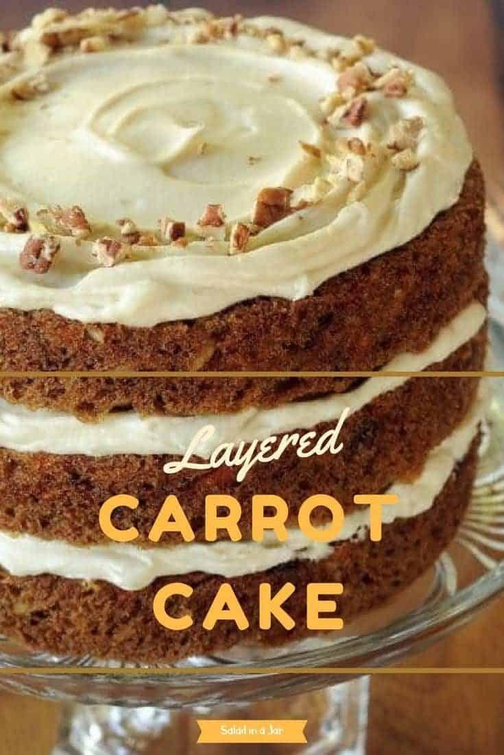 My mom's favorite carrot cake. Cream cheese icing.