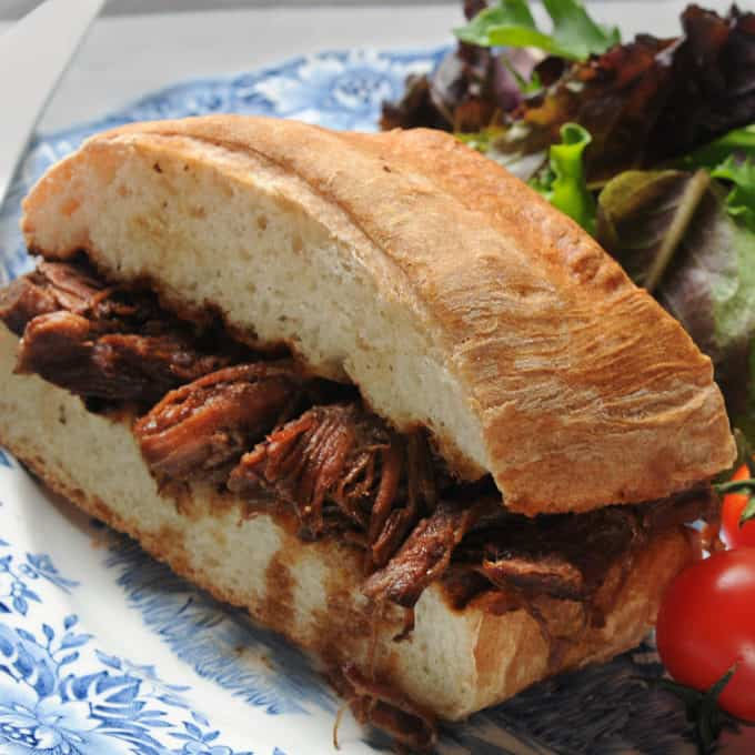 Beef Au Jus Sandwich on Crusty French bread