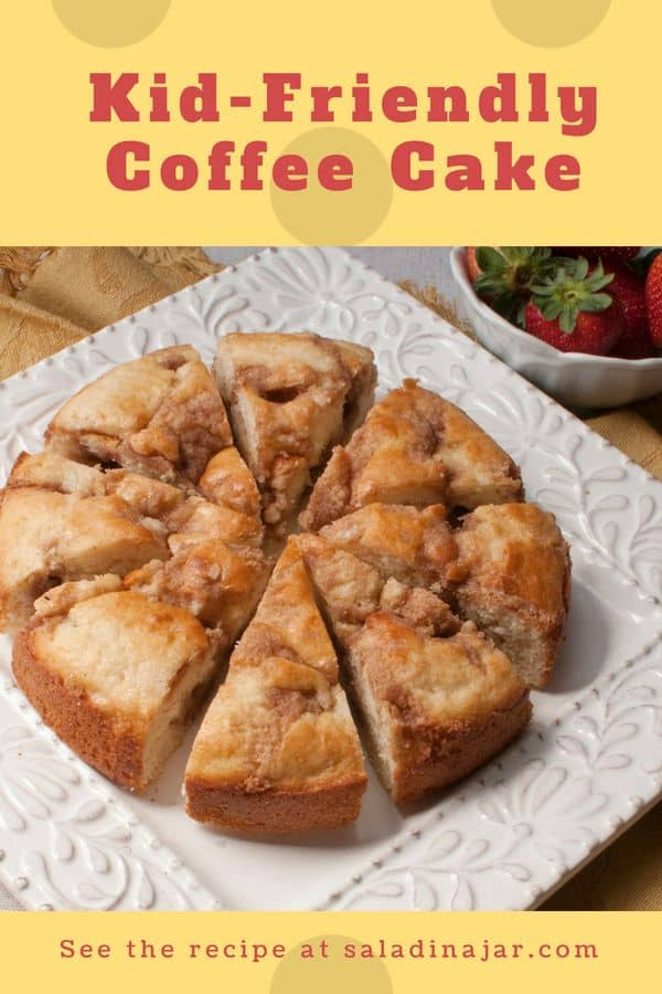 Make it in the morning or the night before. Either way, your kids will love this simple coffee cake.