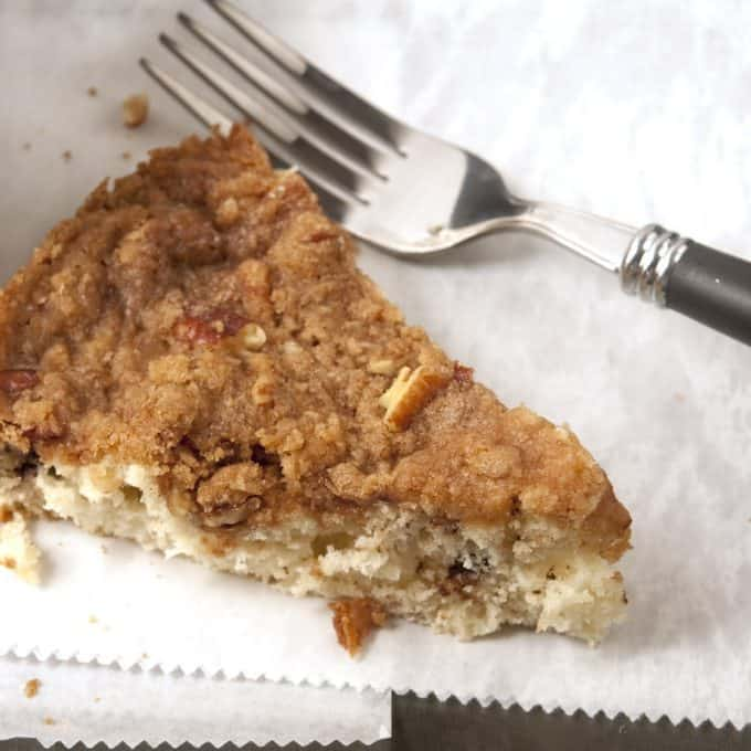 Sliced Kid-Friendly Coffeecake