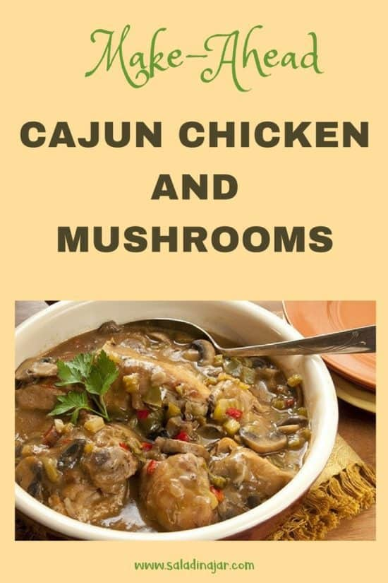 Cajun Chicken and Mushrooms in a bowl