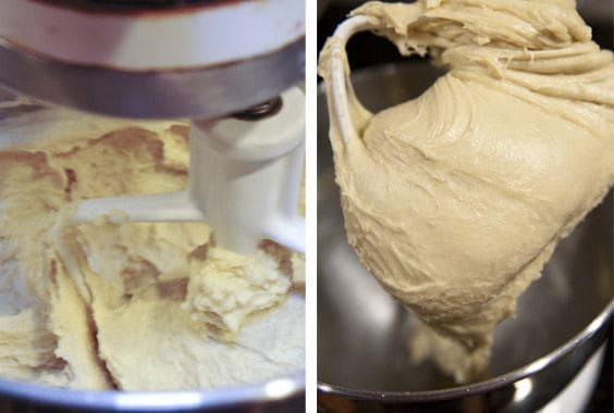 mixing dough in a stand mixer