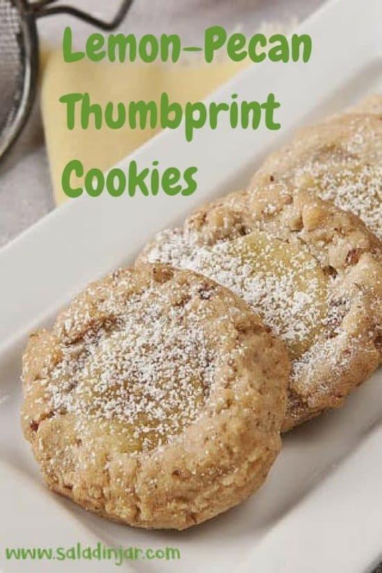 Lemon-Pecan Thumbprint Cookies