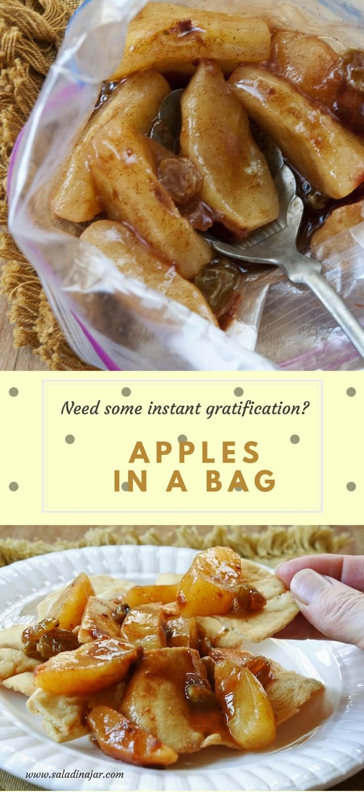 apples in a bag, apple bueno, snacks, quick, fruit, dessert