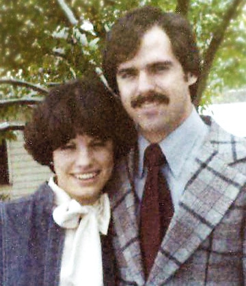 picture of the author and her husband when engaged