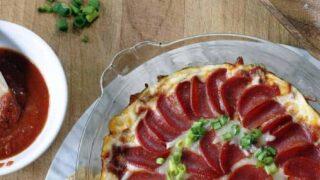 Pepperoni Pizza Dip--A Last Minute Super Bowl Idea