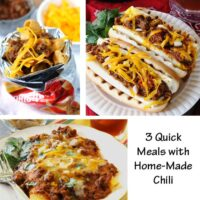 3 Quick Meals Using Home-Made Chili