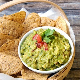 FRESH GUACAMOLE with orange