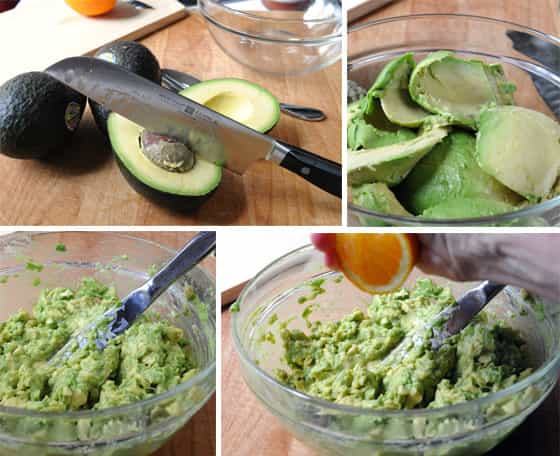 story board showing how to make guacamole
