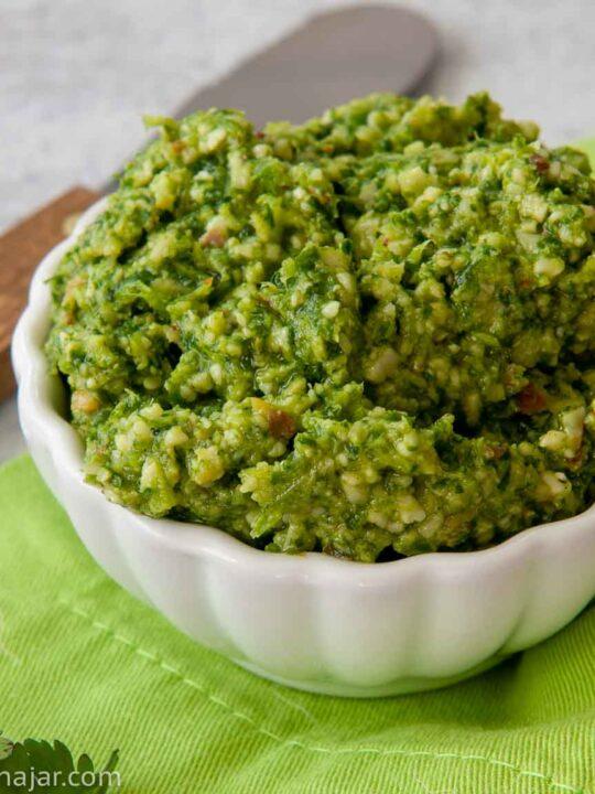 Cilantro Pesto with Green Chilies