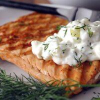 Greek Yogurt and Cucumber Sauce for Fish