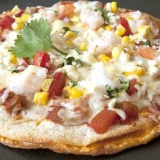 Mexican Pizza with Cheese-Stuffed Double Tortilla Crust