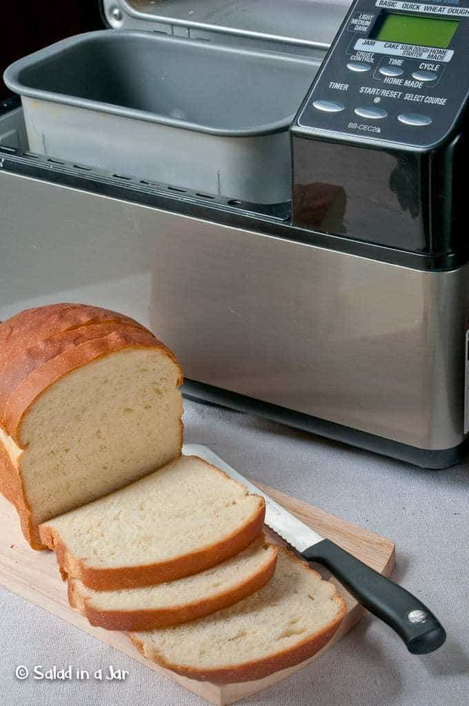 bread machine with Sweet White Bread